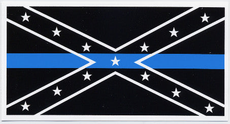 Confederate Blue Lives Matter Vinyl Decal