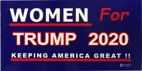 Woman For Trump 2020 Cling