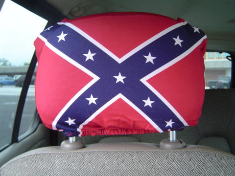 Battle Flag Spandex, Stretchy Auto Headrest Covers
