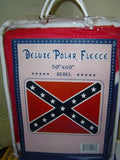 Confederate Battle Flag Fleece Blanket 67'' x 52''