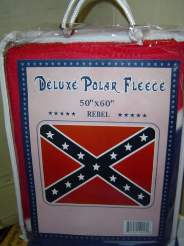 Confederate Battle Flag Fleece Blanket 50'' x 60'''