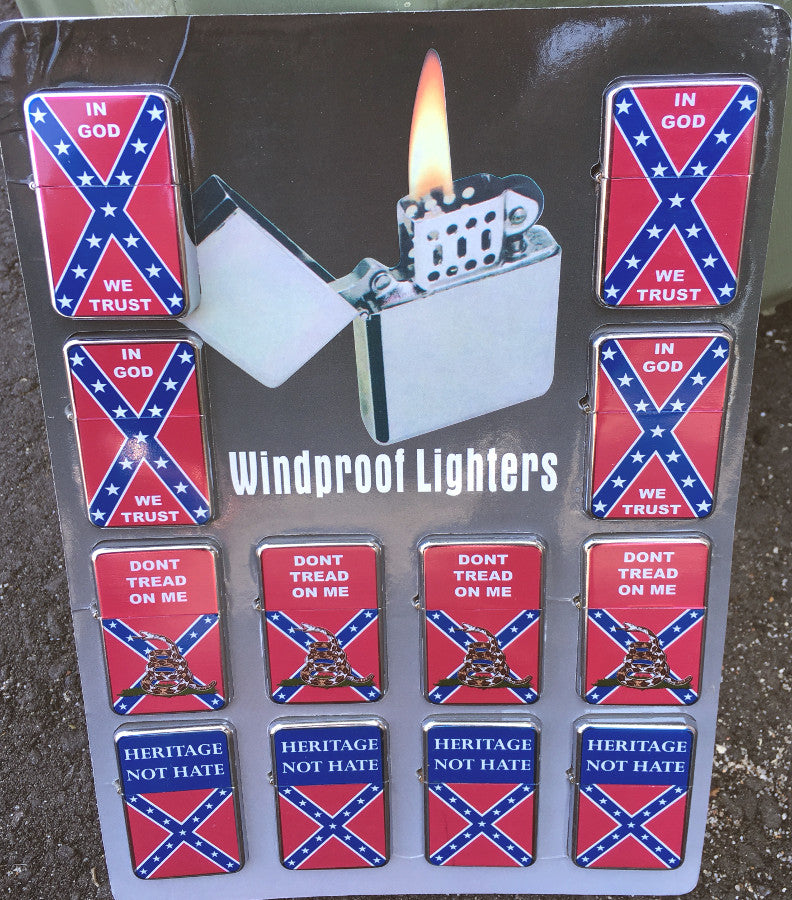 Confederate Windproof Lighters Assorted Styles