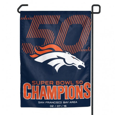 "Super Bowl Champions / Denver Broncos Garden flag 11"" x 15"" - Hawkins Footwear and Sports  - 1"