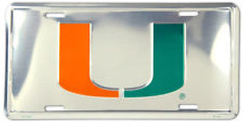 Miami Hurricanes Metal License Plate - Hawkins Footwear and Sports  - 1
