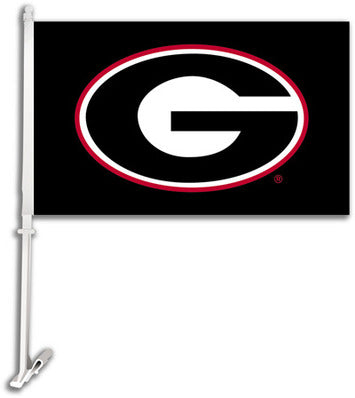 NCAA Car Flags Georgia Bullgogs Black
