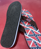 Adult Confederate Battle Flag Flip Flops