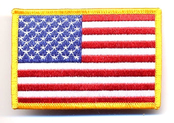 "US Flag Patch 2.5"" x 4"" Cloth Embroidered Patches"