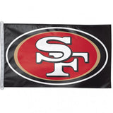 San Francisco 49ers Flag - Team 3' X 5' - Hawkins Footwear and Sports  - 1
