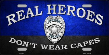 Real Heroes Blue Novelty License Plate