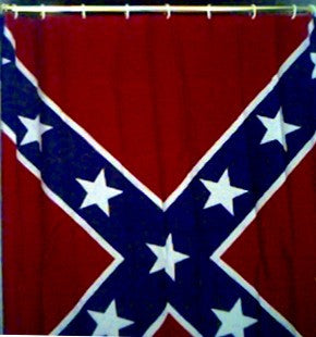 Battle Flag Rebel Shower Curtains