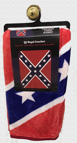 Confederate Battle Flag Cashmere Fleece Luxury Blanket 45'' x 60'''