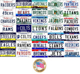 ALL State Background NFL Team License Plates