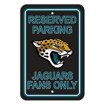 Jacksonville Jaguars Plastic Parking Sign - Reserved Parking