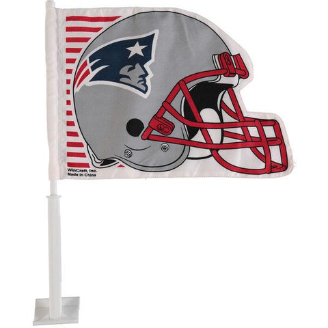 New England Patriots Helmet Shaped Car Flag