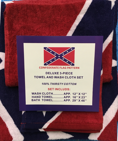 Premium Battle Flag 3 Pc Towel & Wash Cloth set