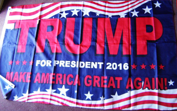 75% OFF Trump Red Letter Poly 3'x5' Flag