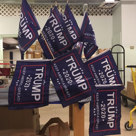 "12"" x 18"" Trump 2020 Stick Flag Yard Marker"