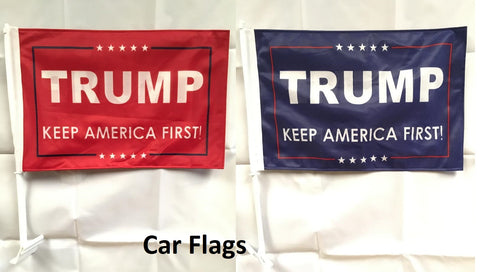 Trump Keep America First Car Flags