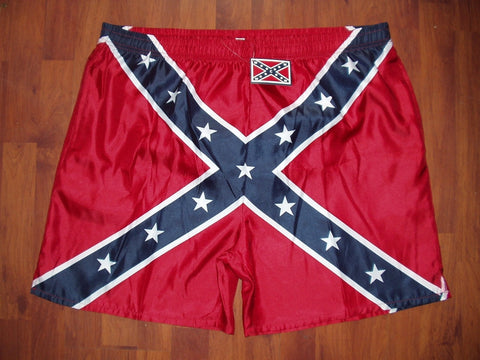 Men Battle Flag Swim Trunks