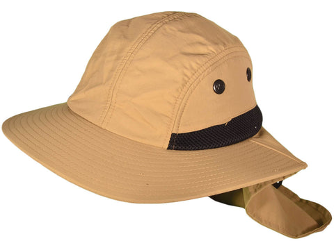 4 Panel Quick Dry Out Moisture Large Bill Flap Sun Cap Hat