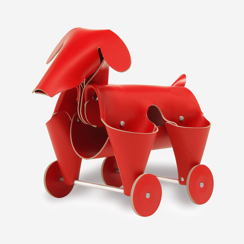 Leather Dog – Red