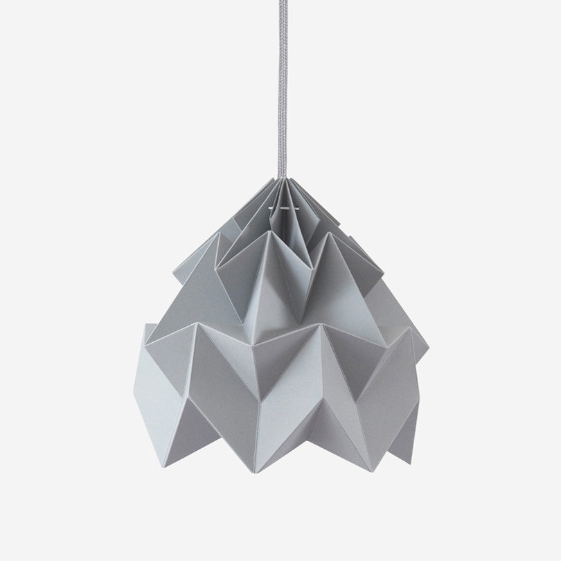 Moth Paper Origami Lamp – Grey