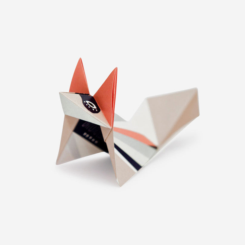 Pack of Three Origami Foxes – Rose