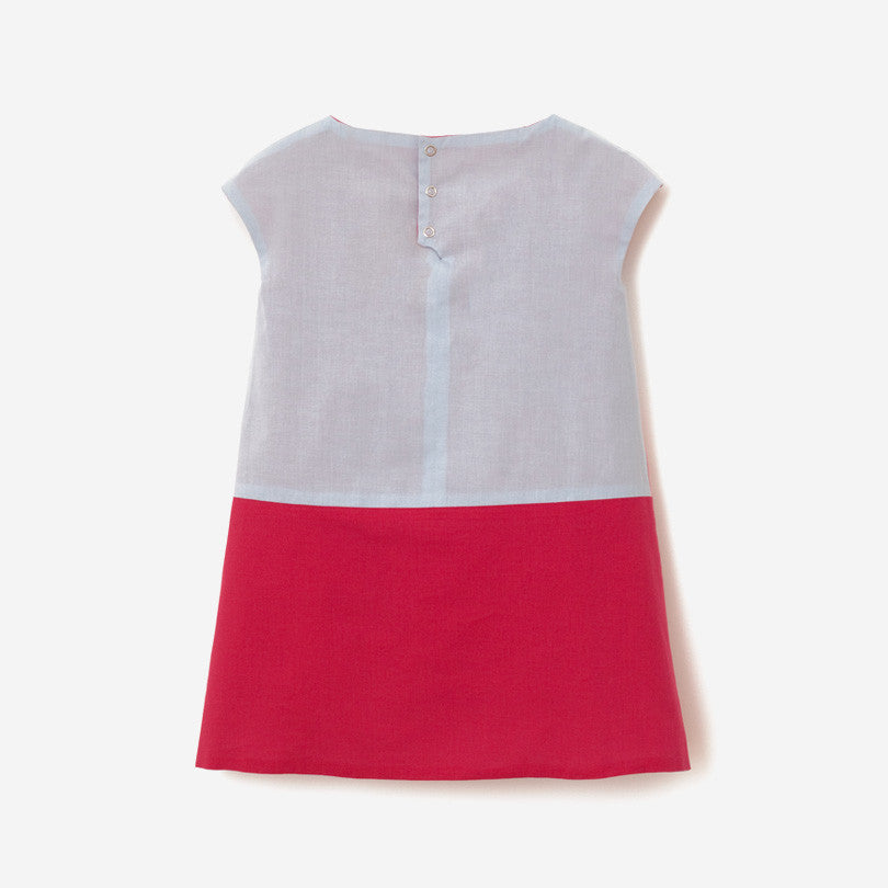 Reversible Pink-Red-Blue Dress