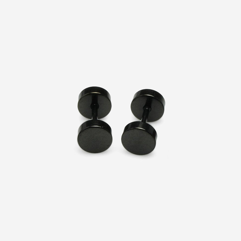 Stainless Steel Stud Earrings – Black