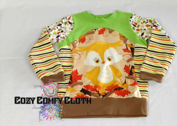 3T Long Sleeve Owl Shirt