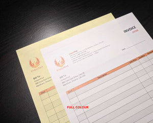 "Perforated Carbonless NCR Forms 2-Part 4.25""x7"" Front Side Full Colour"