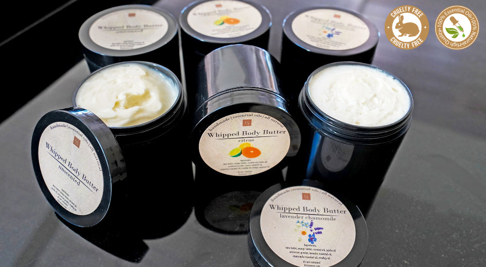 Whipped Body Butter Collection with 100% Essential Oils