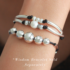 free Grace bracelet shown with the Wisdom bracelet, sold separately
