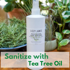 sanitize with tea tree essential oil
