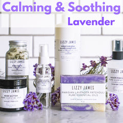 calming and soothing with lavender essential oils