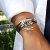 dragonfly wrap bracelet necklace plus size