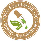100% essential oils Natural Ingredients graphic