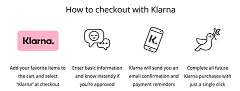 klarna payment option information steps
