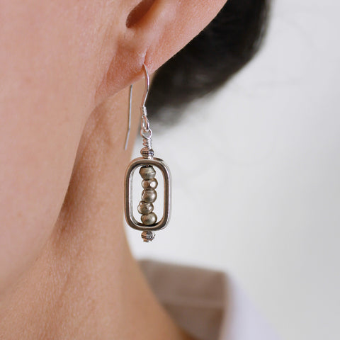 Abacus Silver Earrings