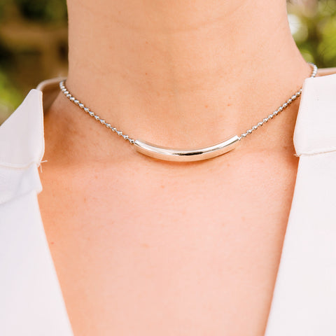 Align Sterling Silver and Stainless Steel Choker
