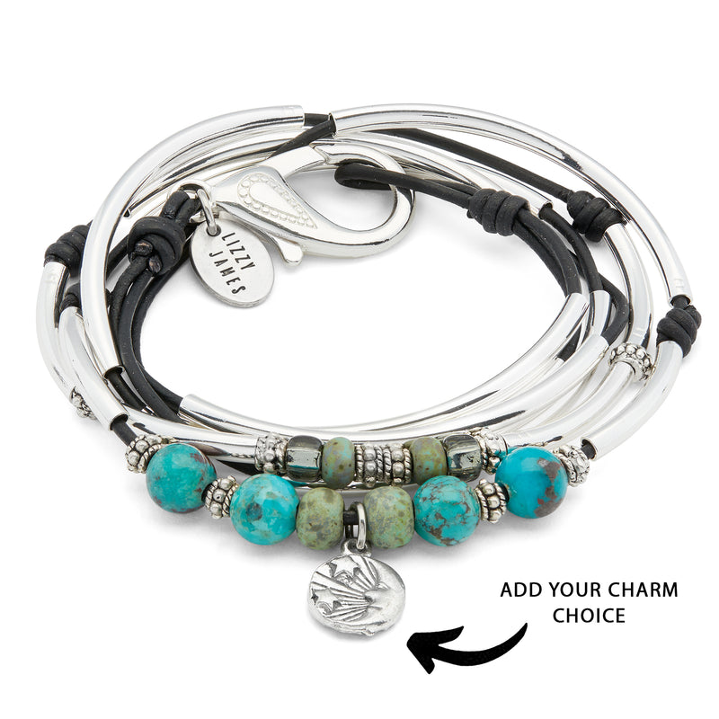 Amee with Semi Precious Turquoise Add Your Charm Choice