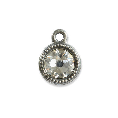 April Birthstone Swarovski Crystal Charm