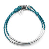 Ashley Anklet in Metallic Teal, comes as shown