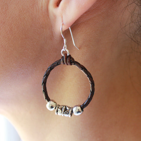 Austin leather earrings