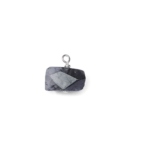Black Rutilated Quartz Crystal Charm