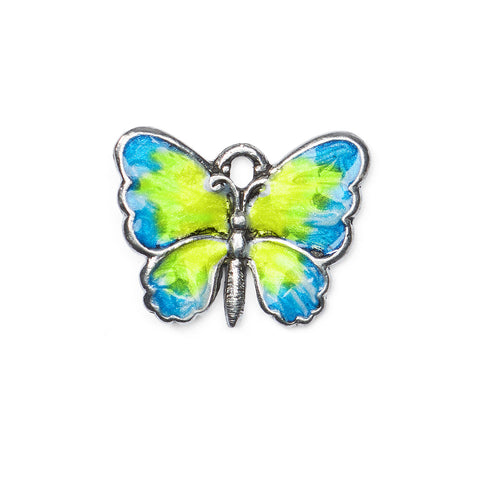 Hand Painted Enamel Butterfly Charm
