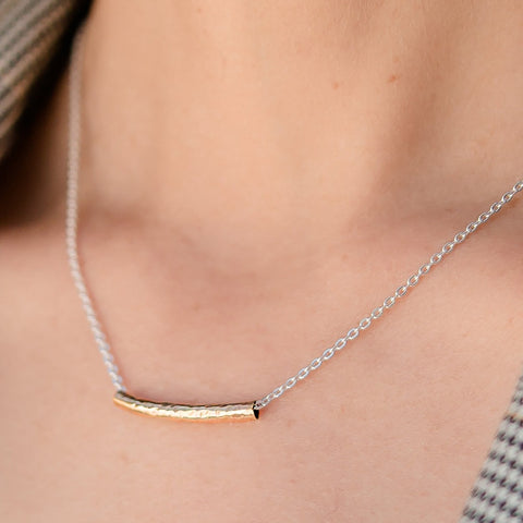 Everyday 2-tone gold and silver chain necklace