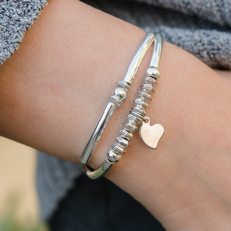 Bounty Adjustable Bracelet with Heart Charm