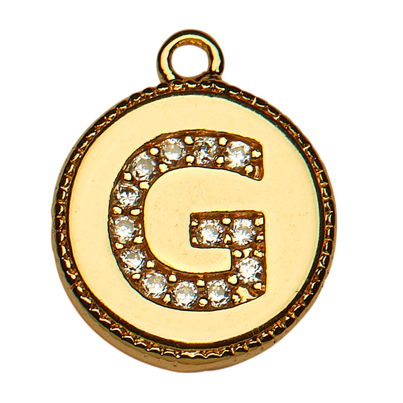 Gold CZ Initial G
