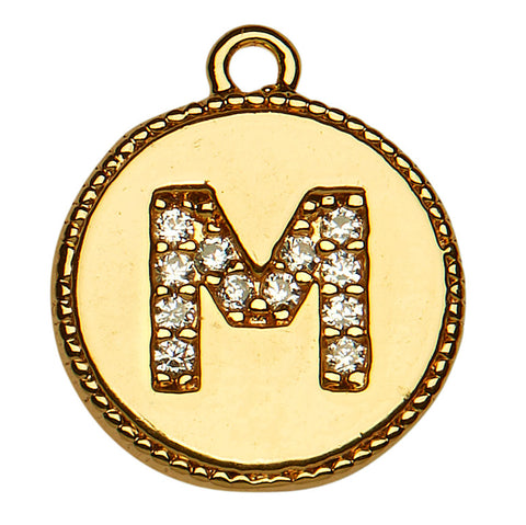 Copy of Gold CZ Initial M
